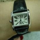 台中流當品拍賣 流當手錶 原裝 CARTIER 卡地亞 沙發坦克 不銹鋼 女錶 9成5新 ZR055